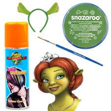 Princess Fiona Shrek Halloween Fancy Dress Makeup Kit Face-paint Hairspray