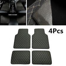 4Pcs PU Leather Car Front+Rear Liner Carpet Set Floor Mats Waterproof Dustproof
