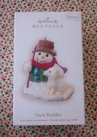 Hallmark 2008 Snow Buddies #11 Series Snowman Fishing Christmas Ornament