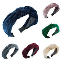 Women's Headband Twist Cross Hairband Wide Velvet Knot Hair Hoop Accessories