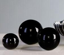 96331 3 pcs. Set Bola decorativa negra Hecho De Cerámica vidriado ø 5 / 6 / 7 cm