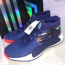 Adidas Dame 5 Men's Basketball Shoes Size 9 Royal Blue Purple White Lillard NIB