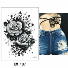 High Quality 21cm x 15cm Fake Temporary Tattoo Mandala Rose Flower /-b502-/