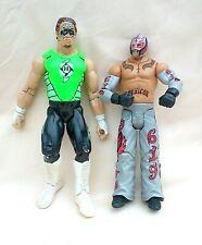 2 Very Rare Wwe Wrestling Figures Gregory The Hurricane Helms & Rey Mysterio