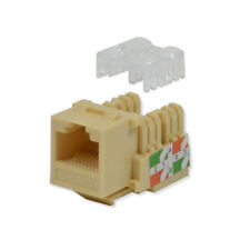 Lote 100 Pack Keystone Jack Cat6 Marfil Red Ethernet 110 abajo 8P8C