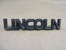 """LINCOLN CONTINENTAL EMBLEM  """" LINCOLN """"  4-1/2  INCH 2 PINS CHROME PLASTIC"""