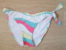 SEXY Blue, Yellow, Pink, White Stripey Bikini Bottoms from 'LEPEL'. Size 16