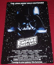 Star Wars The Empire Strikes Back Movie Poster 22x34 Carrie Fisher Harrison Ford