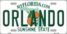 PLAQUE DE VOITURE AMERICAINE-ORLANDO-FLORIDE - DECORATION USA/ BIKER / DISNEY