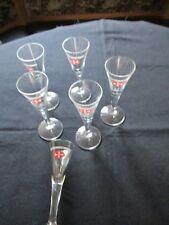 6 Malteserkreuz Aquavit-Gläser 2cl