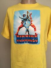 KIKAIDA BROTHERS GRAPHIC T SHIRT Yellow CRISP Generation TV Show HAWAII L Anime