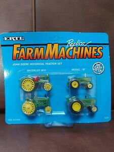 Ertl Replica Farm Machines John Deere Historical Tractor Set NIP #5523