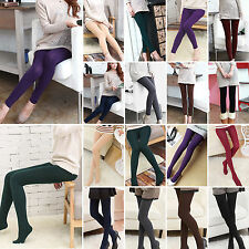 Damen Thermo Leggings Winter Warm Weich Blickdicht Strumpfhose Leggins Hosen
