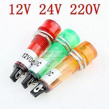 10mm LED Leuchtmelder Signallampe Signalleuchte Kontrollleuchte 12V 24V 220V Neu