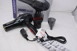 Red By Kiss 2000 Ceramic Ionic Hair Dryer with 2 Attachments