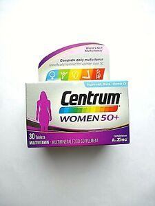 CENTRUM 50 Plus Multivitamin Tablets for Women, Pack of 30 (8221)