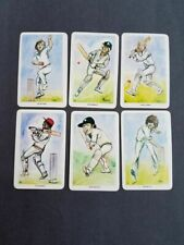 "6 different ""Our Heroes"" Cricket Cards"