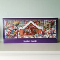 "3 IN 1 FUN CHRISTMAS JIGSAW PUZZLES:  2 x 500 & 1 X 1000 PIECES ""SANTAS GROTTO"""