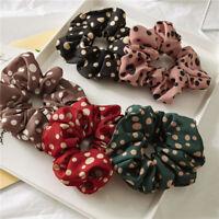 1x Elastic Scrunchies Ponytail Holder Hair Rope Ties Leopard Floral Hair Ring AU