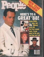 People Weekly January 11 1988 Bruce Willis Mickey Mouse 020419AME