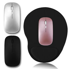 2.4GHz Wireless Mouse/Mouse Pad USB Rechargeable Optical Mini Laptop Macbook Pro