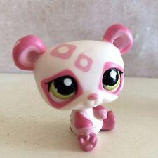 Littlest Pet Shop #1662 Pink & White Panda Bear w/ Green Eyes USA seller 9 pics