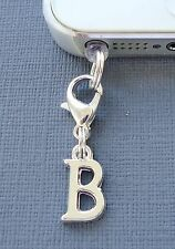 Alphabet Letter B cell phone Charm Anti Dust proof Plug ear cap cover jack C43