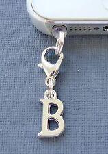 Alphabet Letter B cell phone Charm Anti Dust proof Plug ear cap cover jack C43