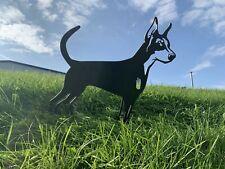 More details for dobermann rusty metal dog garden art