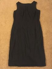 Hillard and Hanson women's dress lined sleeveless classic black dress size 10