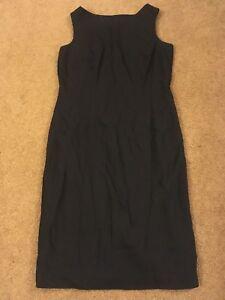 Hillard and Hanson women's dress lined sleeveless classic black dress size 10