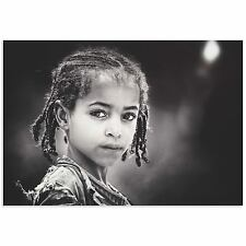 Ethnic Wall Art Beautiful Girl Image African People Photos on Metal