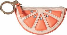 Kate Spade Flights of Fancy Grapefruit Leather Coin Purse Coral Sunset Multi NWT