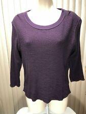 Arizona Thermal Top Shirt X Large 3/4 Sleeve Striped Purple & Black