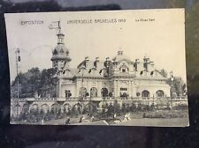 b1d  postcard used 1911 belgium brussels exposition bruxelles 1910