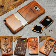 Natural Handmake Case Bamboo Wood Wooden Cover for Samsung S8 Note 7 S7 S7 Edge