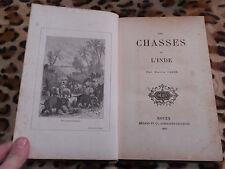 FREDE Pierre : Les chasses de l'Inde - Mégard, 1882