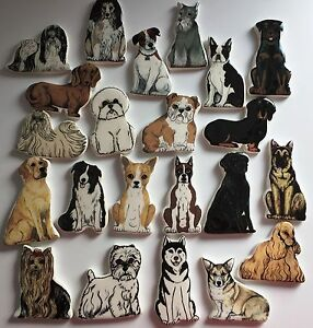DOG FRIDGE MAGNETS CERAMIC PERFECT FOR THE DOG LOVER XMAS BIRTHDAY GIFTS