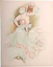 New York Show Girl 1907 Victorian Color Litho Print: Daly's - Chromolithograph