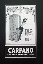 F468 - Advertising Pubblicità - 1957 - CARPANO , VERMUTH DI TORINO
