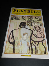 JAN. 2003 PLAYBILL- DINNER AT EIGHT, LINCOLN CENTER THEATER AT VIVIAN BEAUMONT