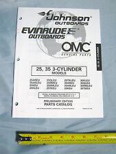 Johnson Evinrude 25, 35HP 3 Cylinder Outboard Boat Motor Parts Catalog
