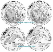 2013 25c 100th Anniversary of the Canadian Arctic Expedition 4-Coin Set Sealed