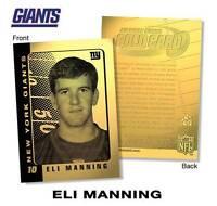 ELI MANNING 2003 Laser Line Gold Card Limited Edition NFL New York Giants *BOGO*