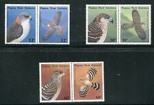 PAPUA/NEW GUINEA, 621a, 623a, 625a (6), 1985 BIRDS, SETEN PAIRS, MNH (ID1282)