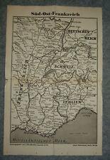 3/22/11 Historische Landkarte Süd Ost Frankreich v 1945