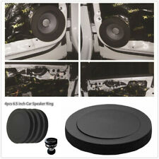 6.5inch Black Rubber Foam Soundproof Cotton Pad For Car Door Speaker Bass 4Pcs