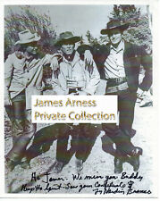 James Arness Gunsmoke Marshal Dillon Ty Harden (Bronco) With Clint Walker Signed