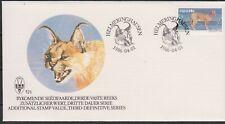SWA SOUTH WEST AFRICA 1986 Wildlife Def/14c African Lynx/Animals SG 358c FDC CAT