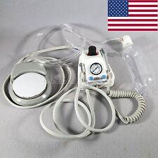 USA Stock Dental Portable Air Turbine Unit Fit Air Compressor 4 Holes Adapter US